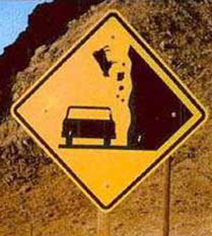 Falling Cows Ahead