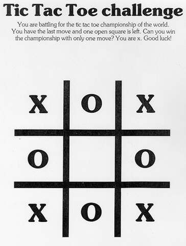 puzzles for blondes tictactoe